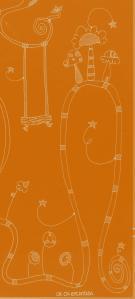 recorte de la foto de naranja-blanco