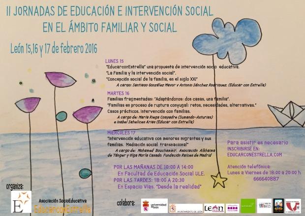 cartel II JORNADAS DE EDUCACIÓN e INTERVENCIÓN SOCIAL